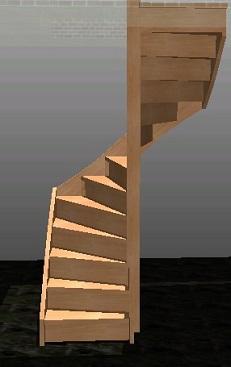 Halfslag trap voor een draai van 180 graden in goedkoop for Van vlizo naar vaste trap